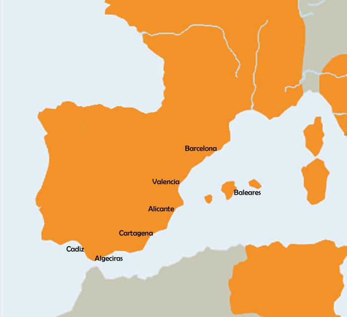 mapa ciudades